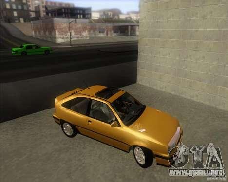 Chevrolet Kadett GSi 2.0 (1991-1995) para la visión correcta GTA San Andreas