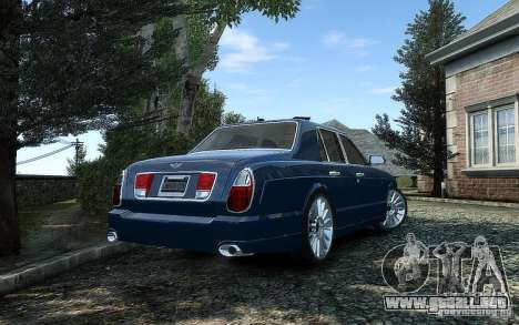 Bentley Arnage T para GTA 4 vista hacia atrás