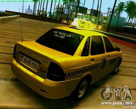 2170 LADA Priora Baki taksi para la visión correcta GTA San Andreas