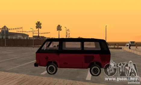 Volkswagen T3 Rusty para GTA San Andreas left
