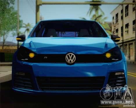 Volkswagen Golf R 2010 para GTA San Andreas vista hacia atrás
