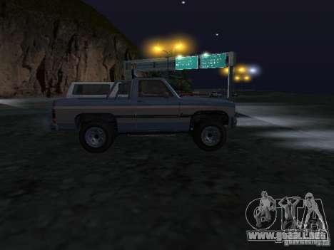 Ranchero de GTA 4 para GTA San Andreas vista hacia atrás