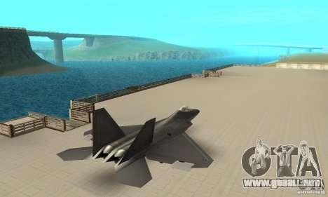 F-22 Black para GTA San Andreas left