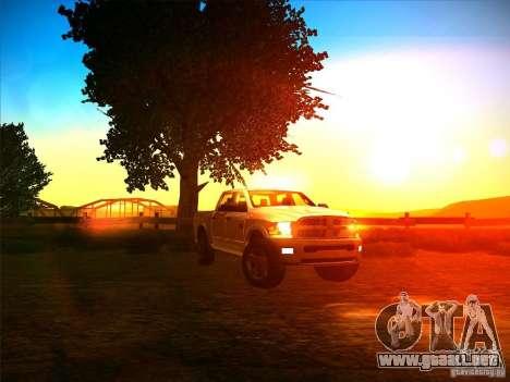Dodge Ram Heavy Duty 2500 para GTA San Andreas vista hacia atrás