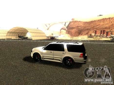 Ford Expedition 2008 para GTA San Andreas vista posterior izquierda