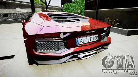 Lamborghini Aventador LP700-4 para GTA 4 visión correcta