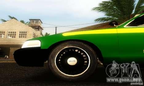 Ford Crown Victoria Vermont Police para la visión correcta GTA San Andreas