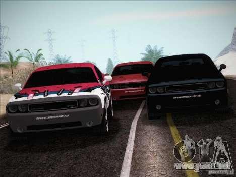 Dodge Challenger SRT8 2010 para vista inferior GTA San Andreas