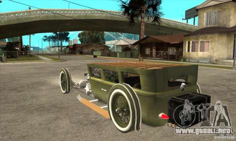 HotRod sedan 1920s para GTA San Andreas vista posterior izquierda