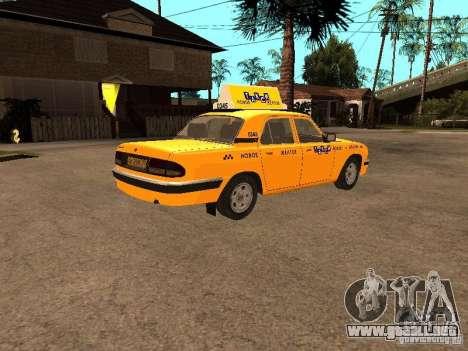 Volga GAZ-31105 Taxi para la visión correcta GTA San Andreas