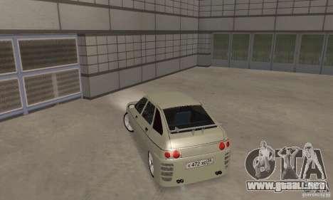 LADA 2112 Tuning (F) para GTA San Andreas vista posterior izquierda