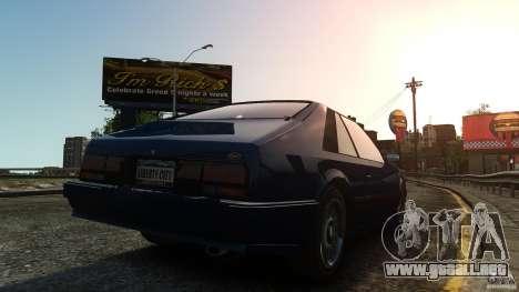 Uranus Hatchback para GTA 4 Vista posterior izquierda