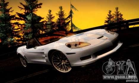 Chevrolet Corvette ZR-1 para el motor de GTA San Andreas