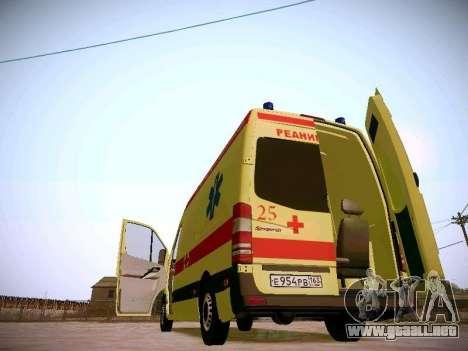Mercedes Benz Sprinter Ambulance para la vista superior GTA San Andreas
