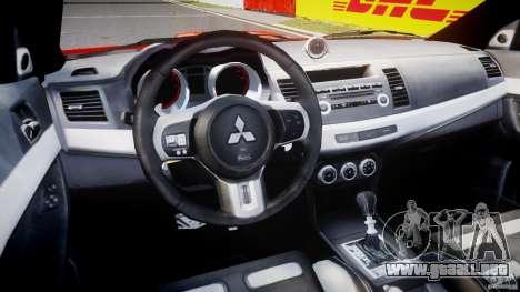Mitsubishi Lancer Evo X 2011 para GTA 4 visión correcta