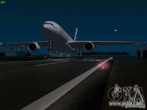 Airbus A330-200 Emirates para GTA San Andreas interior