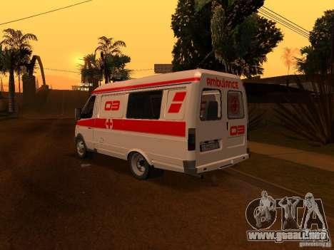 Ambulancia gacela para GTA San Andreas vista posterior izquierda
