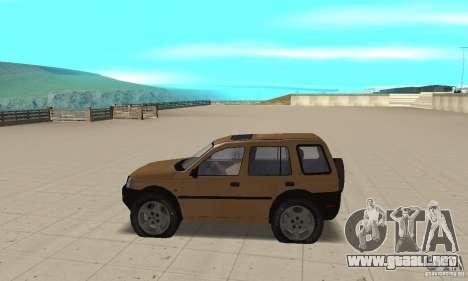 Land Rover Freelander KV6 para GTA San Andreas left