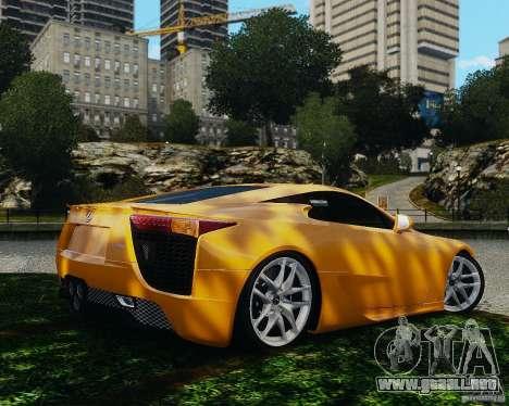 Lexus LF-A para GTA 4 visión correcta