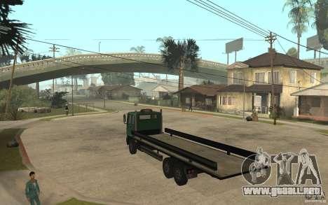 DFT30 Dumper Truck para GTA San Andreas vista posterior izquierda