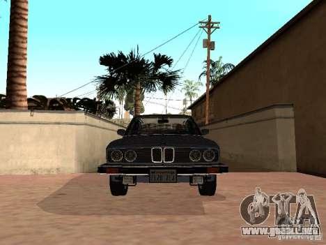 BMW 535is E28 para GTA San Andreas vista posterior izquierda