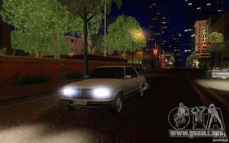 Mercedes Benz 280 CE W123 1986 para vista lateral GTA San Andreas