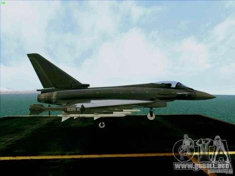 Eurofighter-2000 Typhoon para la visión correcta GTA San Andreas