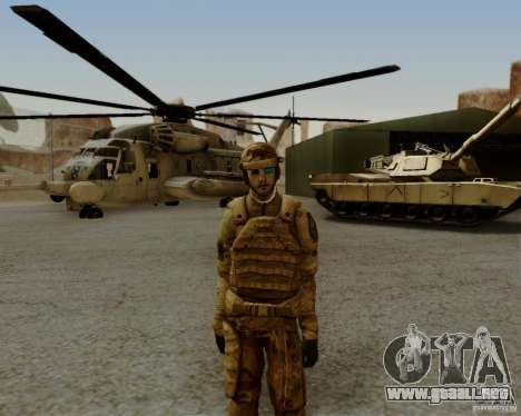Tom Clancys Ghost Recon para GTA San Andreas quinta pantalla