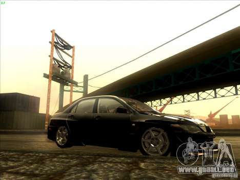 Mitsubishi Lancer Evolution VIII Full Tunable para visión interna GTA San Andreas