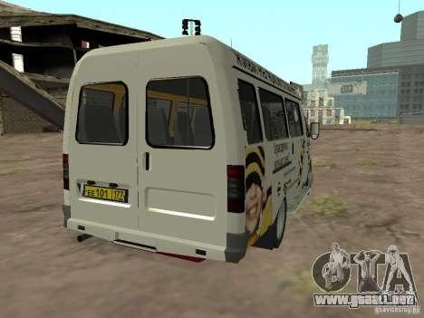 Gacela 32213 Beeline para GTA San Andreas vista posterior izquierda