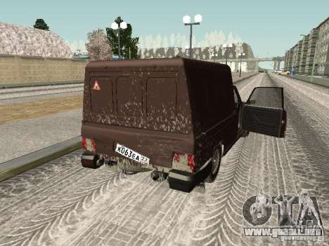 IZH 27175 Winter Edition para visión interna GTA San Andreas