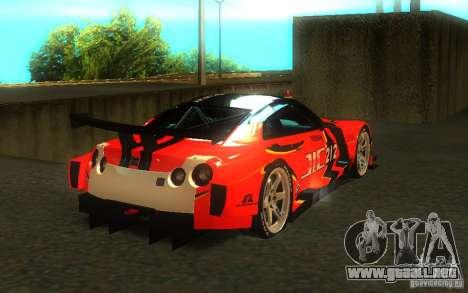 Nissan Skyline R35 GTR para el motor de GTA San Andreas