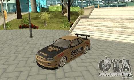 Nissan Skyline R-34 GTR para el motor de GTA San Andreas
