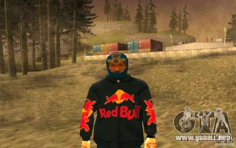 Red Bull Clothes v1.0 para GTA San Andreas quinta pantalla
