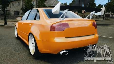 Audi RS4 EmreAKIN Edition para GTA 4 Vista posterior izquierda