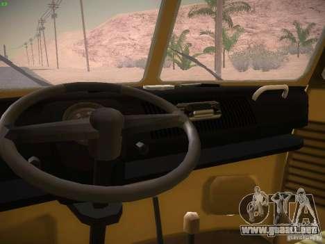 Volkswagen Type 2 Custom para GTA San Andreas vista hacia atrás