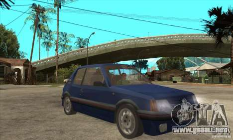 Peugeot 205 GTI para GTA San Andreas vista hacia atrás