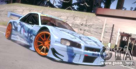 Nissan Skyline Touring R34 Blitz para GTA San Andreas