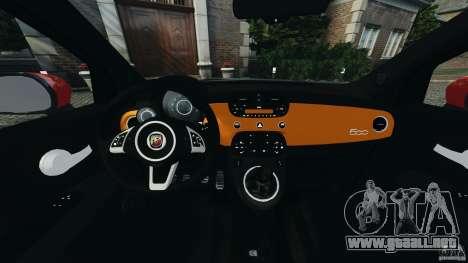 Fiat 500 Abarth para GTA 4 vista hacia atrás