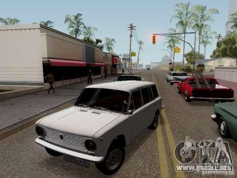 VAZ 2102 para GTA San Andreas vista hacia atrás