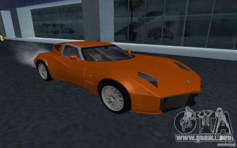 Spada Codatronca TS Concept 2008 para GTA San Andreas vista hacia atrás