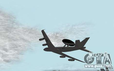 Boeing E-3 Sentry para GTA San Andreas left