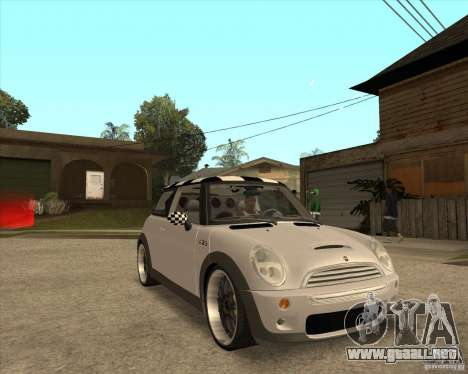 Mini Cooper para GTA San Andreas vista hacia atrás