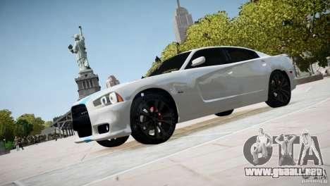Dodge Charger SRT8 2012 para GTA 4 Vista posterior izquierda
