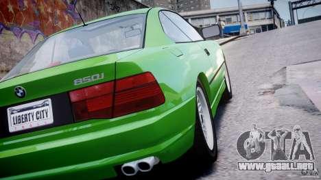 BMW 850i E31 1989-1994 para GTA 4 vista superior
