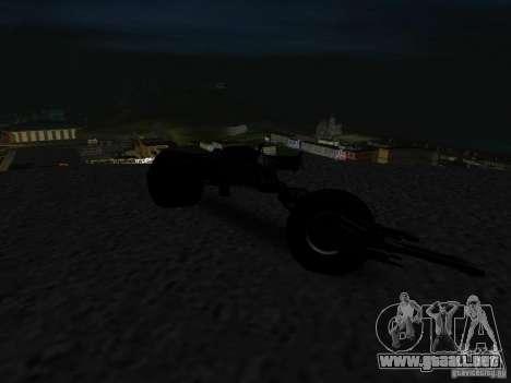 Batpod para GTA San Andreas vista hacia atrás