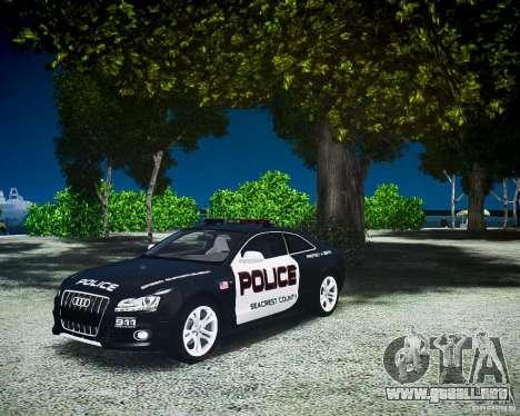 Audi S5 Police para GTA 4 visión correcta