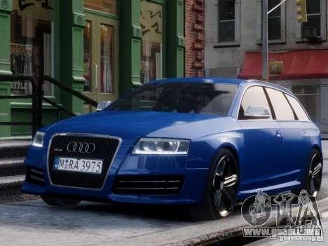 Audi RS6 Avant para GTA 4 visión correcta