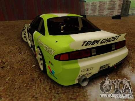 Nissan S14A Team Ghost para GTA San Andreas left
