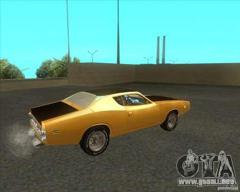 Dodge Charger RT 1971 para GTA San Andreas vista posterior izquierda